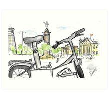 Columbus Monument, Barcelona - www.cycleyourheartout.com Art Print