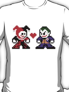 8-bit Harley Loves Joker T-Shirt
