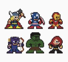 8-bit Comic Avengers by groundhog7s