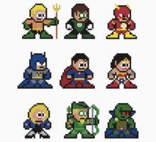 8-bit Justice League 9 by 8 Bit Hero