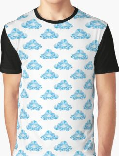 Diamond Clouds in the Sky Pattern Graphic T-Shirt