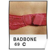 Bad Bone (Pantone) Bra 69 Poster