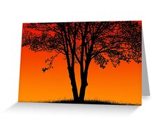 Sunset Style Tree Greeting Card