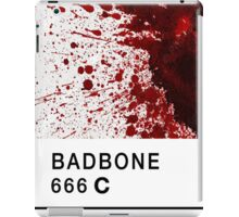 Bad Bone (Pantone) Blood 666 iPad Case/Skin