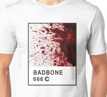 Bad Bone (Pantone) Blood 666 Unisex T-Shirt