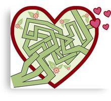 Love maze Canvas Print