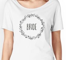 Woodland wreath - bride Women's Relaxed Fit T-Shirt