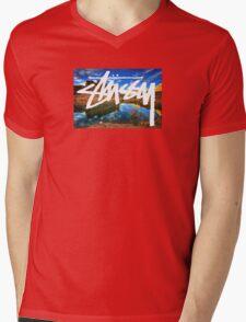 Stussy Desert Mens V-Neck T-Shirt
