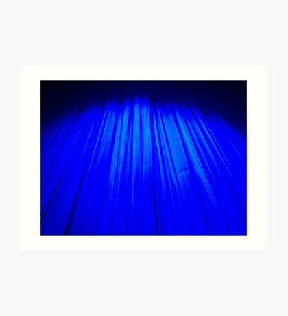 Theatre curtain Art Print