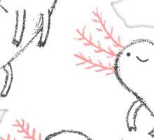 Three Little Axolotls Sticker