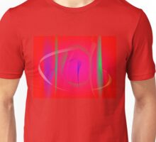 Vivid Red Abstract Bamboo Thicket Unisex T-Shirt