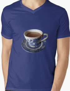 Willow pattern tea cup Mens V-Neck T-Shirt