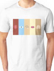 Human Body Minimalism Unisex T-Shirt