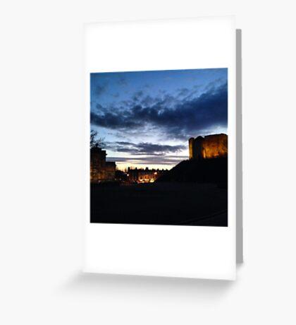 Clifford's Tower at Night Greeting Card