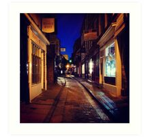 The Shambles at night Art Print
