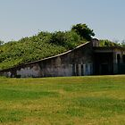 Bunker at Fort Travis by Robert Brown