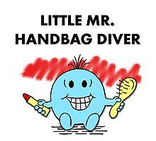 Mr Handbag Diver Photographic Print