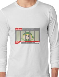 Link jailed for pottery damage (TV newsflash) Long Sleeve T-Shirt