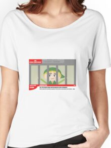 Link jailed for pottery damage (TV newsflash) Women's Relaxed Fit T-Shirt