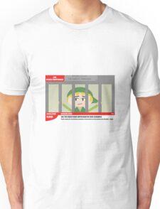 Link jailed for pottery damage (TV newsflash) Unisex T-Shirt