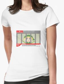 Link jailed for pottery damage (TV newsflash) Womens Fitted T-Shirt