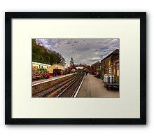 Goathand Station Platform Framed Print