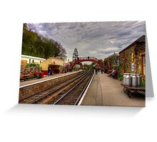 Goathand Station Platform Greeting Card