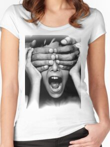 PICK A BOO Women's Fitted Scoop T-Shirt