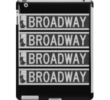 BROADWAY DECO SWING NYC Street Sign  iPad Case/Skin