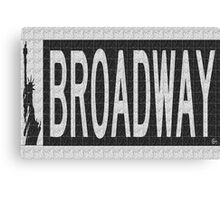 BROADWAY DECO SWING NYC Street Sign  Canvas Print