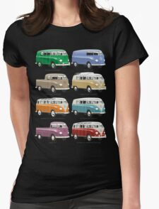VW T1 Samba range Womens Fitted T-Shirt