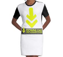 Download Life  Graphic T-Shirt Dress