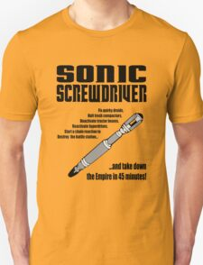 Sonic Screwdriver taking down the Empire T-Shirt