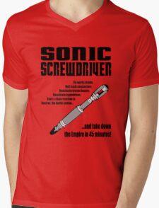 Sonic Screwdriver taking down the Empire Mens V-Neck T-Shirt