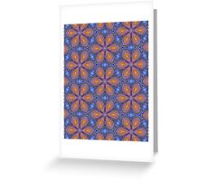Knitted Flowers Pattern Greeting Card