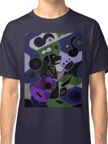 Cool Funny Black Labrador Retriever Playing Guitar Classic T-Shirt