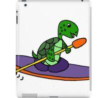 Funny and Cool Sea Turtle Kayaking iPad Case/Skin