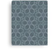 Silver Roses Pattern Canvas Print