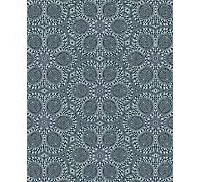 Silver Roses Pattern Photographic Print