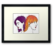 Two of a kind: Oswald &Noble Framed Print