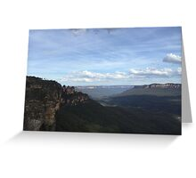 Blue Mountains - Seeing my 3 Sisters Greeting Card