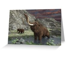 Woolly Mammoth 2 Greeting Card