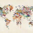 world map watercolour by bri-b