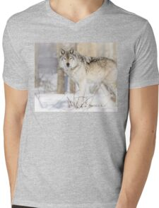 Stare - Timber Wolf Mens V-Neck T-Shirt
