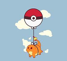 Charmander Balloon Ride by zerojigoku