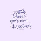 choose your own direction (with moped in purple) by jazzydevil