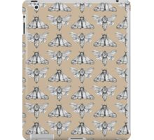 Moth pattern in neutral colours iPad Case/Skin