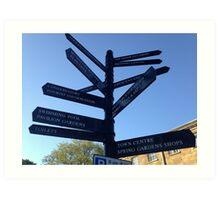 Signpost. Buxton. Art Print