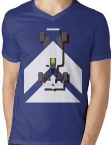 AYRTON SENNA MCLAREN MP4/4 1988 (1) Mens V-Neck T-Shirt