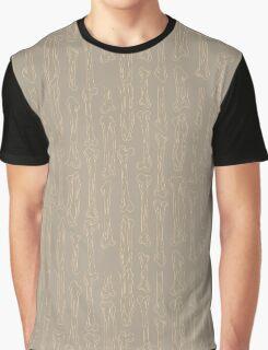 Bones pattern Graphic T-Shirt